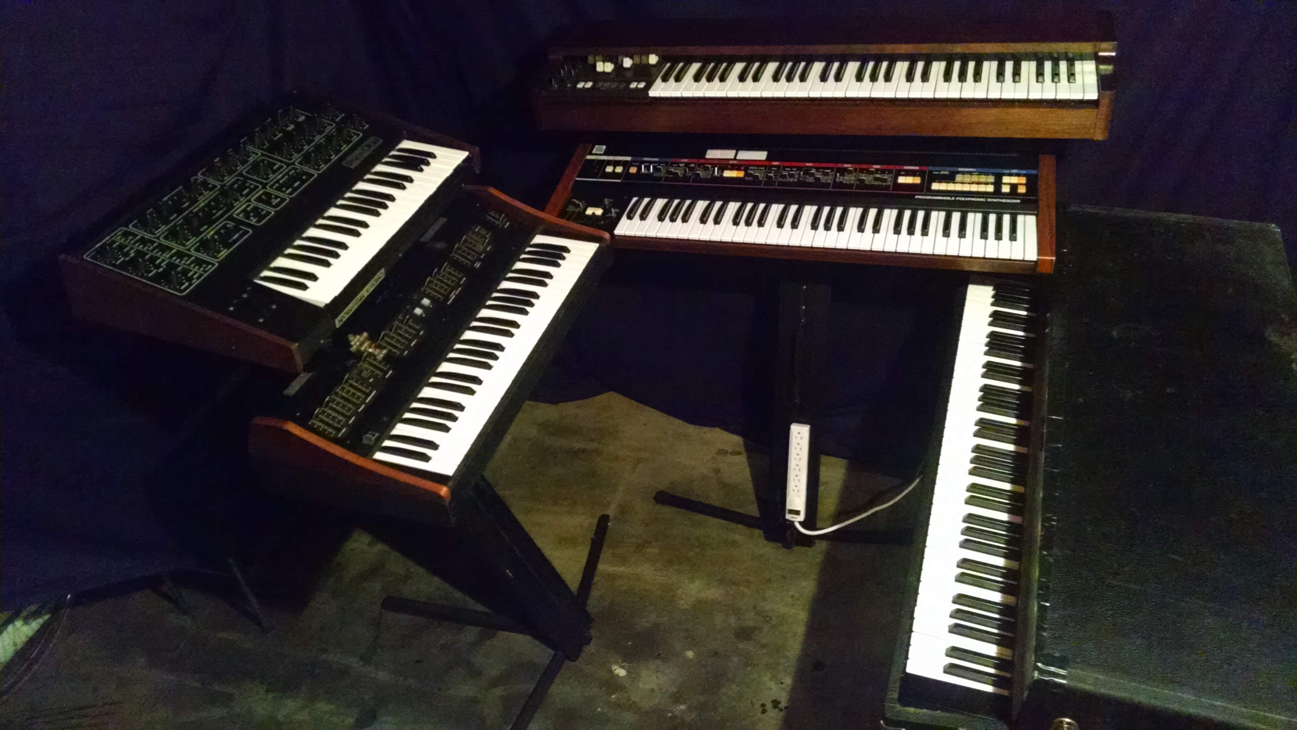 Allan Loucks Keyboard Rig for Ellis and Lynch