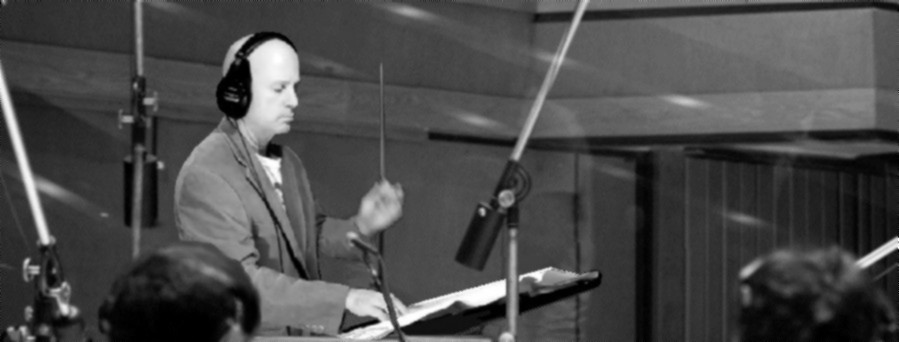Allan Loucks - conducting studio orchestra