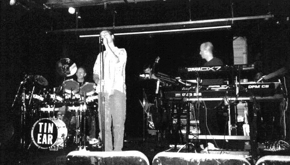 Allan Loucks on keyboards with TIN EAR 1997
